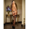 Dreamgirl Black Diamond Backseam Fishnet Hold Up Stockings