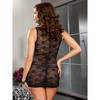 Dreamgirl Plus Size Stretch Lace Mini Dress with Zip Front