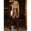 Dreamgirl Leopard Print Babydoll with Suspender Straps