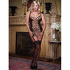 Dreamgirl Plus Size Leopard Print Babydoll with Suspender Straps