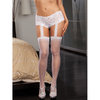 Dreamgirl Black Diamond Plus Size Lace Garter Belt with Thigh High Stockings