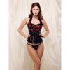 iCollection Halter Neck Corset Top and G-String Set