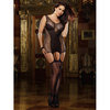 Dreamgirl Black Diamond Plus Size All-In-One Garter Dress