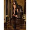 Dreamgirl Wet Look Garter Dress with Fishnet Panels
