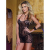 Dreamgirl Red Diamond Tempting Tease Stretch Lace Chemise