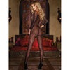 Dreamgirl Black Diamond Leopard Print Crotchless Bodystocking