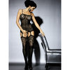 Obsessive Fishnet Bodystocking with Lace Bust