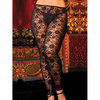 Seven Til Midnight Plus Size Floral Lace Leggings