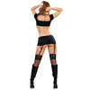 Exposed Midnight Bound Plus Size Keyhole Top and Garter Skirt
