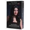 Fever Rhianne 26 Inch Long Black Soft Curl Wig with Centre Parting