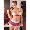 Cottelli Tartan Schoolgirl Costume Bra and Skirt Set