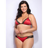 Lovehoney Plus Size Spoil Me Satin Cage Brief Red