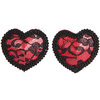Lovehoney Lace and Satin Heart Nipple Pasties