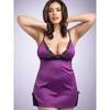 Lovehoney Plus Size Satin and Lace Babydoll Set Plum