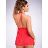 Lovehoney Love Me Lace Babydoll and G-String Red