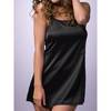 Lovehoney Lace-Up Satin Chemise Black