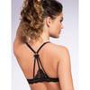 Lovehoney Front-Fastening Satin Plunge Bra Black