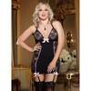 Dreamgirl Plus Size Stretch Lace Fitted Sexy Chemise Set