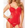 Seven 'til Midnight Burning Flame Underwired Red Bustier Set