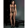Music Legs Seamless Fishnet Crotchless Bodystocking