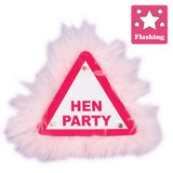 Fluffy Flashing Hen Party Badge