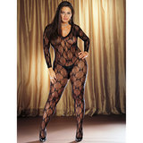 Dreamgirl Plus Size Butterfly Lace Bodystocking
