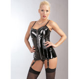 Black Level PVC Zip Front Corset