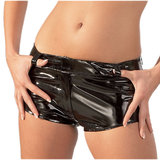 Black Level PVC Shorts
