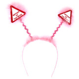 Warning Mother of the Bride Pink Fluffy Boppers