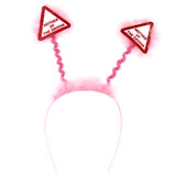 Warning Mother of the Groom Pink Fluffy Boppers