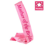 Flashing Mother of the Bride Pink Satin Sash
