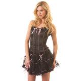 Classified Black Bustier & Petticoat Set