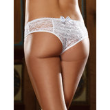 Dreamgirl Stretch Lace Crotchless Knickers with Ruffles