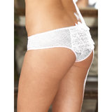 Dreamgirl Plus Size Stretch Lace Crotchless Knickers with Ruffles