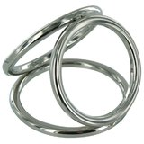 Triple Cage Stainless Steel Cock Ring Large