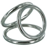 Triple Cage Stainless Steel Cock Ring Medium
