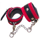Bondage Boutique Luxury Leather and Suede Padded Wrist Cuff Restraints