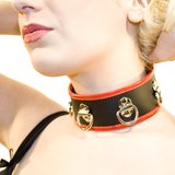 Bondage Boutique Xtreme Leather and PVC Multi D-Ring Collar