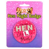 I'm The Hen Let's Party Hen Night Badge