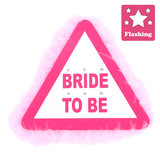 Fluffy Flashing Bride To Be Hen Night Badge