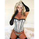 Sweet Streak Regal Jacquard Corset and G-string Set