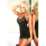 Sweet Streak Clubwear Rhinestone Halter Dress