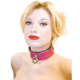 Bondage Boutique Deluxe Leather O-Ring Fetish Collar