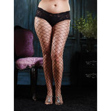 Leg Avenue Plus Size Fence Net Tights with Built-In Boy Shorts