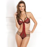 Rene Rofe Strappy Lace Embroidered Body