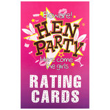 Large Hen Party Male Rating Cards