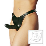 Wild Obsessions Leather Two Way Dildo Strap-On Harness