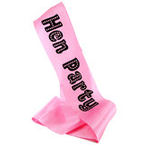 MissBehave Hen Party Pink Satin Sash