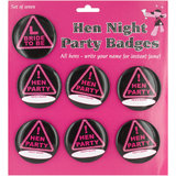 Black Hen Night Name Badges (7 Pack)
