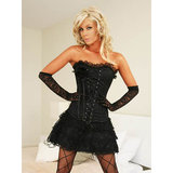 Sweet Streak Lace Bustier Skirt and G-String